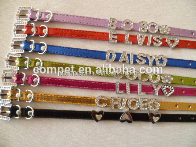 Big Sale DIY Alphabet Slide Letters Charms Decorated 10mm PU Leather Pet Dog Cat Collar