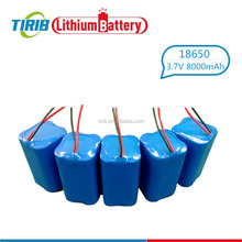 High Drain 3.7v 18650 8000mah Li-ion Battery Pack 8ah
