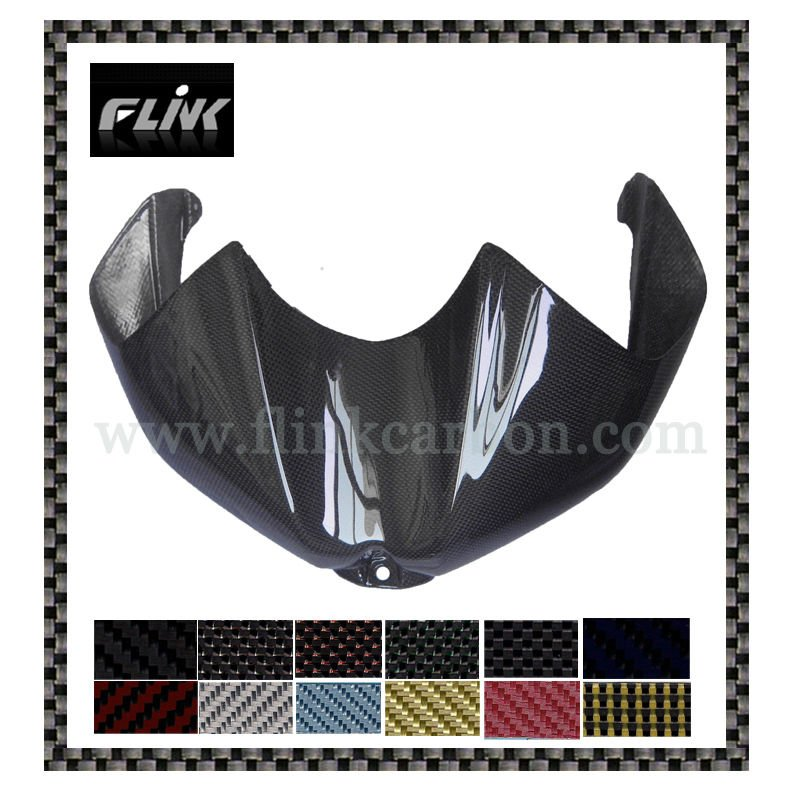 Black carbon fiber tank cover for Yamaha R6