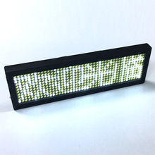 Ultra bright LED Mini display with rechargeable battery, USB Programmable LED Name badge, Indoor scrolling LED Display sign