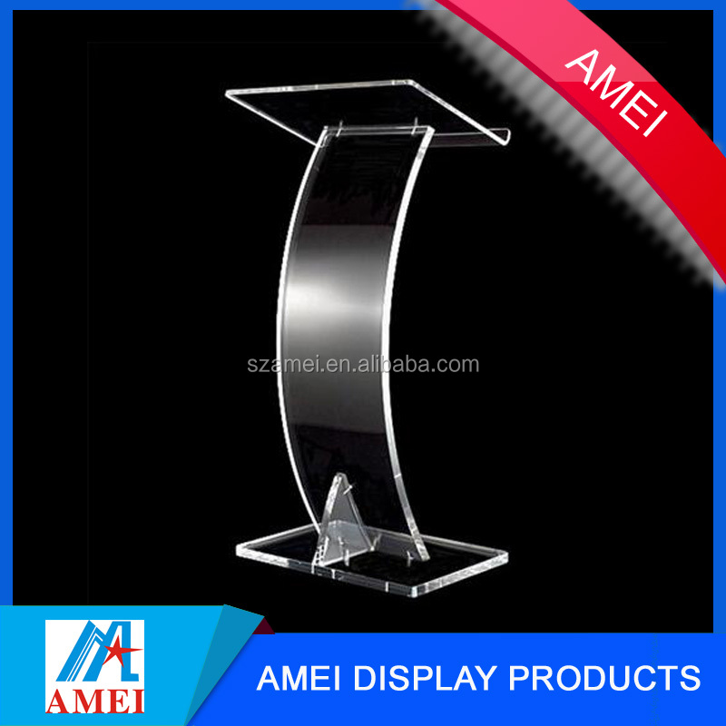 factory OEM high quality modern clear plexiglass acrylic church pulpit