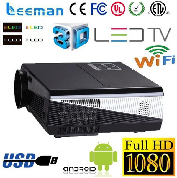 built-in android wifi projectors lcd 3d full hd home theatre projector active shutter 3d projector