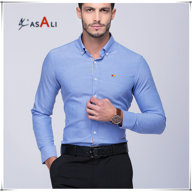 Men's dress shirt Men Plus Size Long Sleeve Male Business Casual Shirts Homme Slim Fit Office Man's Dress Shirt