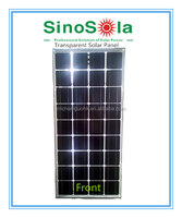 300W Mono Transparent Solar Panel laminated with Tempered Glass&Transparent TPE