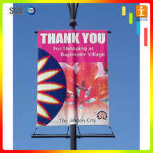 Double Side Printing Street Banner road flag light post flags, light pole flags