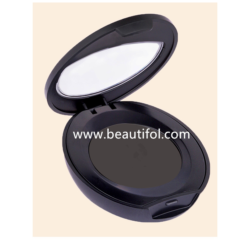 Private label waterproof eyebrow powder compact, mineral makeup contour palette highlight brow powder