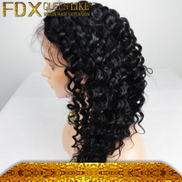 Cuticle Alinged Indian Deep Wave Virgin Hair Wigs