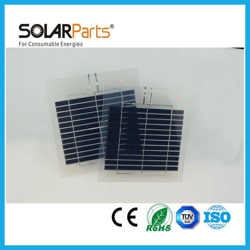 Solarparts 5x 6V/2.7W 450mA poly cell transparency frosted pet solar panel solar module for charger use for diy kits toys edu
