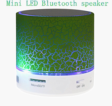 Support TF card and USB popular portable led mini mp3 music speaker