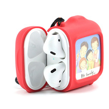 Creative present photo frame design air pod case earphone silicone protective case for air pod