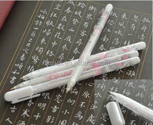 Wholesale non erasable gel pen with white ink