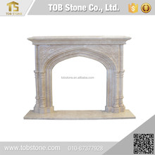 Modern popular cultured marble fireplace surround
