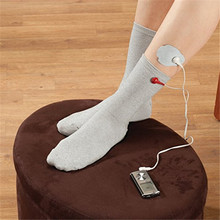 Tens massage accessory electrode conductive socks free size for foot massager