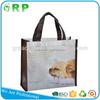 ISO/BSCI Hot selling supermarket folding handle nonwoven shopping bag