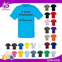 Latest Summer Design 140g 35% Cotton 65% Polyester Plain Ladies New Design T Shirt