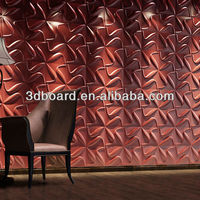 Modern Eco-friendly Bamboo Fiber Restaurant Wall Coverings 3d Wall Panel