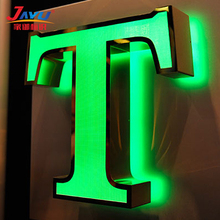 High grade stainless steel big size building led channel letter sign