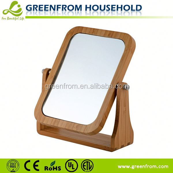 Double-side table style high quality plain wooden mirror frame