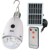 Lithium-ion rechargeable remote control solar led bulb with mobile phone charger