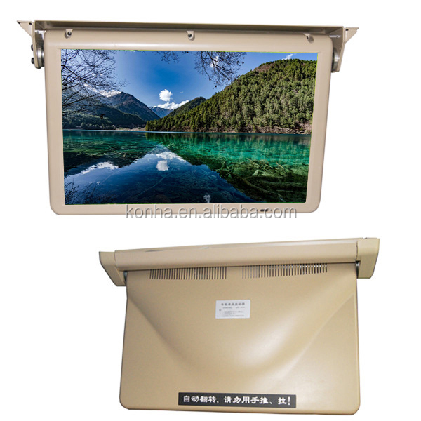 "24V/12V 19""Flip Down Bus Advertising Motorized Monitor With AV INPUT"