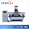 Three heads wood cnc router furniture making machine