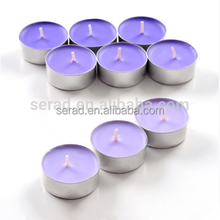 holiday time color aluminum cups 4hours tealight candle
