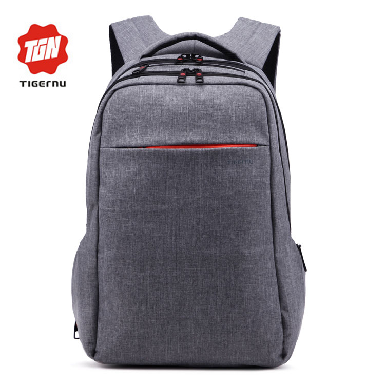 2016 Tigernu Brand Mochila Wholesale Fashion Korea Male Waterproof Canvas Bagpack Three compartments Boy Backpack School Bags
