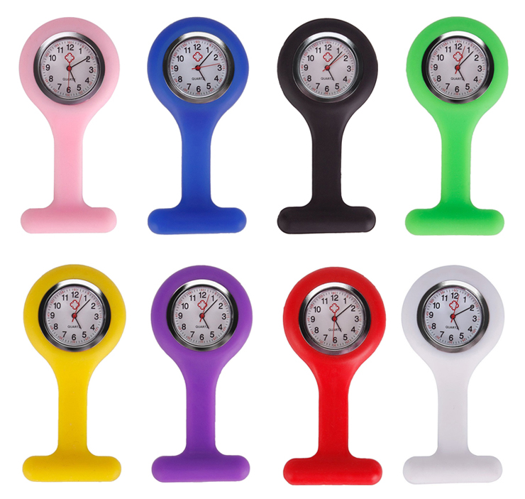 Best 병원 Clip 걸 이식 Pocket Clock Silicone Rubber 간호사 FOB Watch