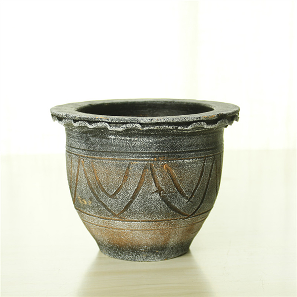 Wholesale terra cotta handmade maya flower pot for cemetery