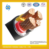 China electric power cable supplier Hongda Brand YJV/YJLV 3+2 core copper/aluminum conductor