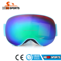 2016 top model sports racing ski goggles custom logo strap snow ski goggles