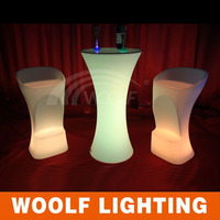 party events led light cocktail table