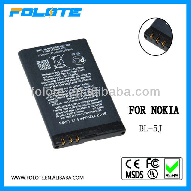 long standby sell used cell phone batteries For Nokia BL-5J