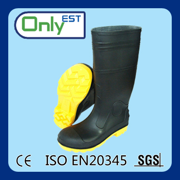CE Approval waterproof PVC nitrile rubber anti mine safety boots/shoes