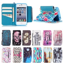 Flip Leather Mobile Phone Case For iPhone 4/4s Wallet Cover Cases for Apple iPhone 4/4s With Card Slot