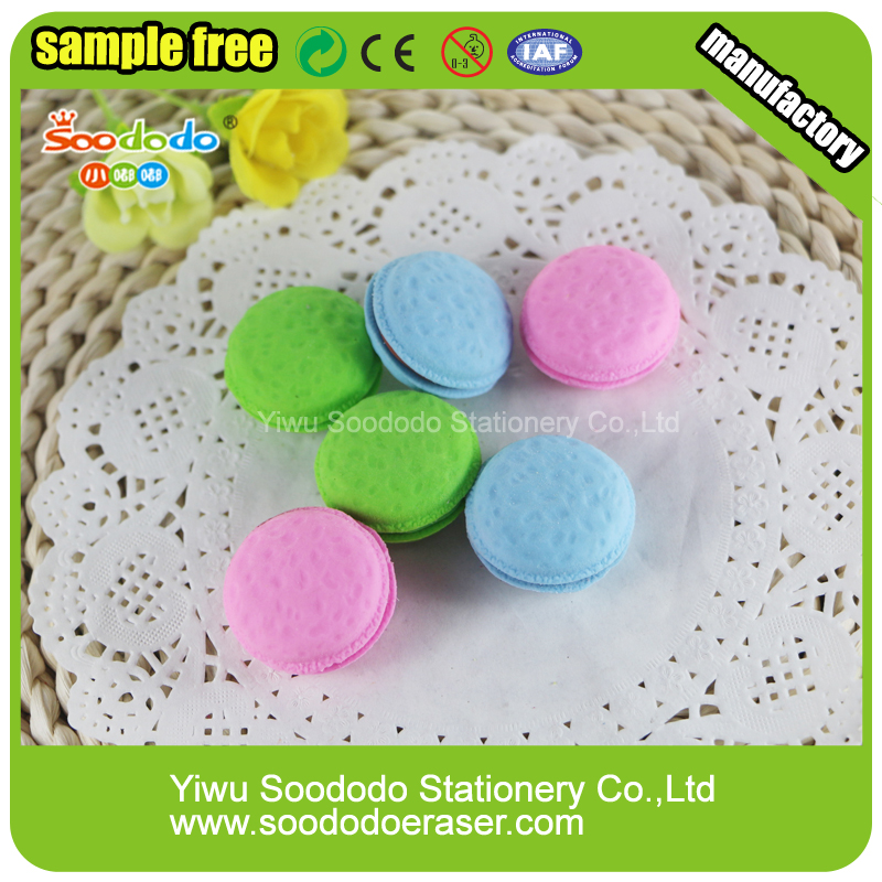 Wholesale TPR Cute Macaron 3D Puzzle Erasers For Children