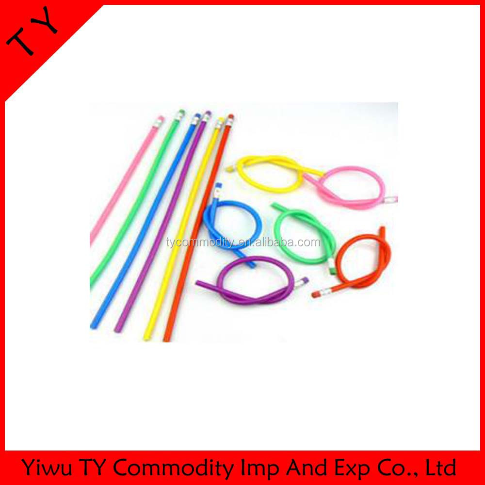 Promotion soft fun bendy flexible pencil for kids