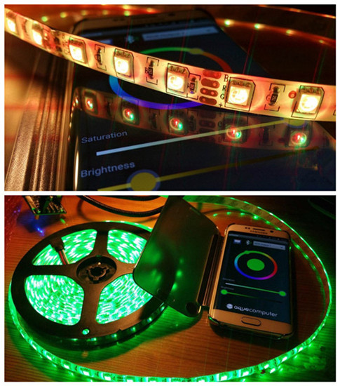 FRANKEVER Bluetooth dmx music audio sound controller led rgb rope strip light controller app free download