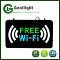 rectangle acrylic epoxy resin fonts commercial advertising led FREE Wi-Fi neon light sign