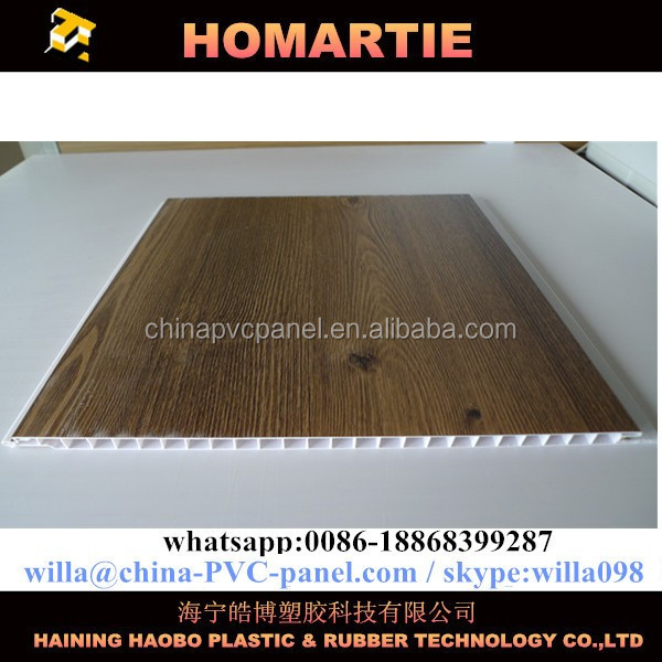 false pvc wood designs ceiling panels PVC ceiling strip for Honduras Nicaragua