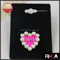 Lover Gift Pearl Beaded Ring Pink Enamel LOVE Ring RR12472