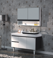 Modern Hanging Bathroom Cabinet With Natrual Marble Countertop