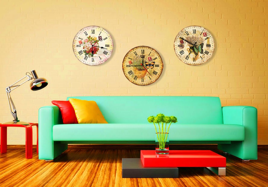 Wood wall digital large design clock
