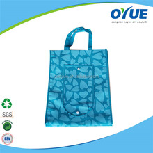Folding recyclable tote non woven wholesale shopping bag