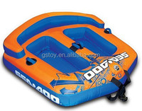 double seats plastic inflatable snow towable sled