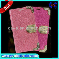 Credit Card Wallet Crystal Diamond Leather Case Cover For Apple iphone 4/4S 5/5S