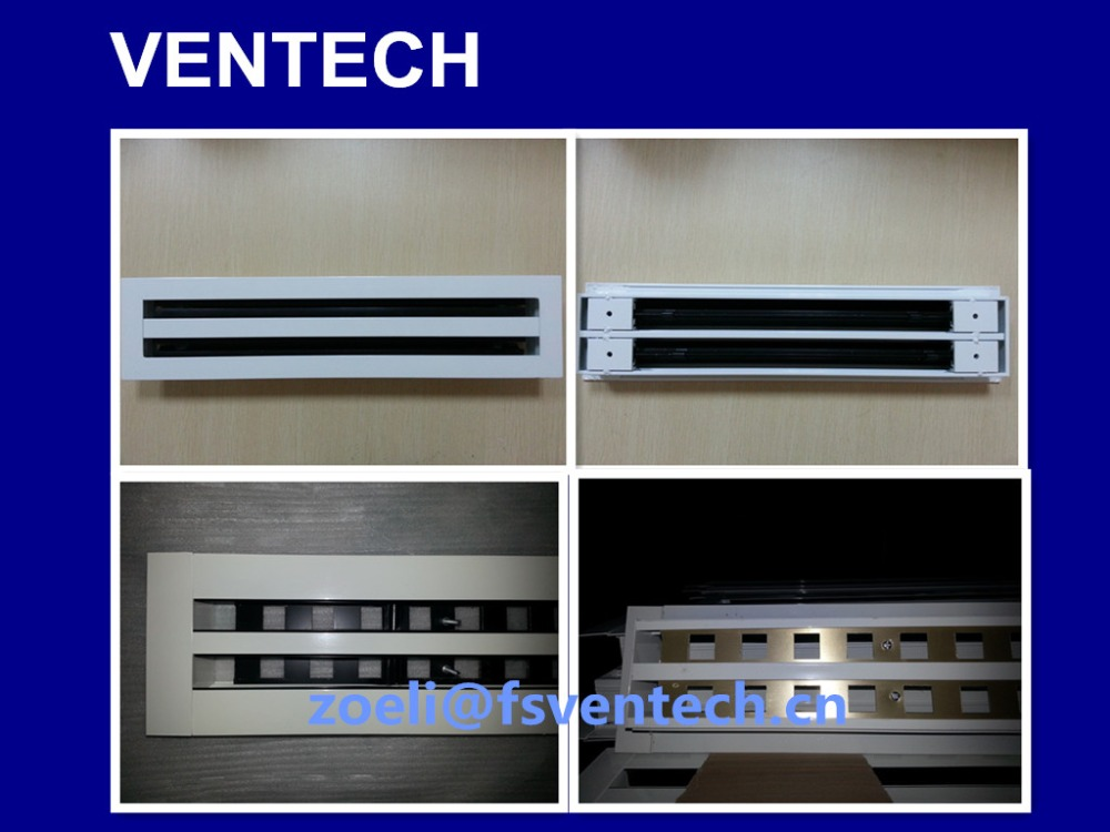 Ventilation linear slot diffuser for air conditioning