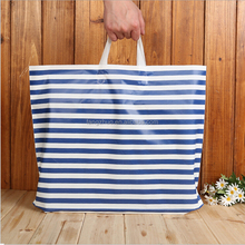 100% 2017 New Design Eco-friendly Biodegradable Plastic Streak Soft Shopping Carrying HDPE Loop Plastic Handle Shopping Bag