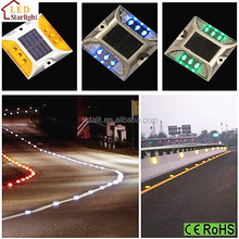 Different Color Flashing Solar Driveway Mark Lights/Solar Road Marker/solar powered road marker stud lights