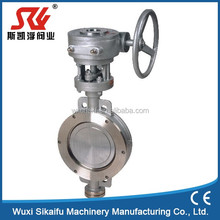 Numerous in variety wcb/cast iron/cf8m/cf8/cf3/cf3m wafer type three eccentric butterfly valve